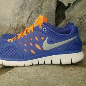 Nike Flex Run Womens Sz 10 Running Shoes Blue